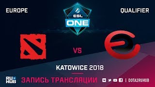 Wise Monkeys vs Evil Corporation, ESL One Katowice EU, game 1 [Adekvat, Smile]