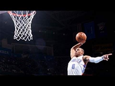Russell Westbrook Rocks the Rim