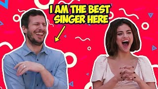 Download Video Andy Samberg Makes Selena Gomez Laugh So Hard (Hotel Transylvania 3) MP3 3GP MP4