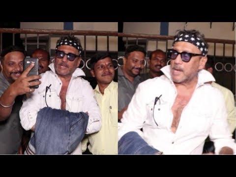 Jackie Shroff & Neelam Kothari Spotted At Sanjay Khan's Residence