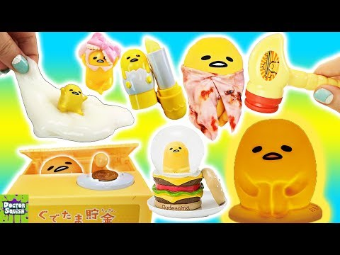 Another BIG Gudetama Show! Gudetama Slime and Whack-A-Mole!? Doctor Squish