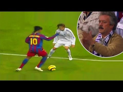 The day when Ronaldinho received a standing ovation from Real Madrid fans! - Oh My Goal