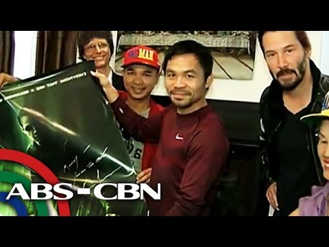 Keanu Reeves, may regalo kay Pacquiao