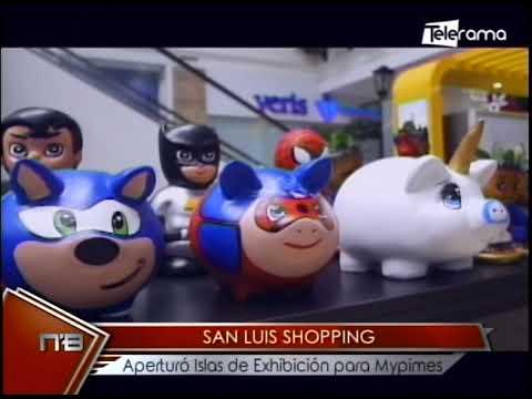 San Luis Shopping aperturó islas de exhibición para Mypimes