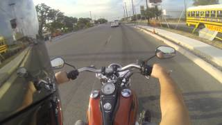 8. Harley Dyna Wide Glide GoPro going home