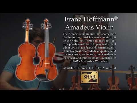 Video - Franz Hoffmann® Amadeus Violin Outfit - 1/2 size | HV100T 12