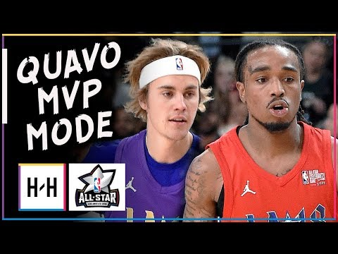 Migos Quavo MVP Full Highlights at 2018 All-Star Celebrity Game - 19 Points, DAT WAY!