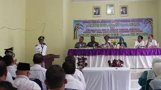 Sambutan Camat Kecamatan Padang Gelugur yang baru DEDI SP yang dihadiri Sekda Drs H Mara Ondak