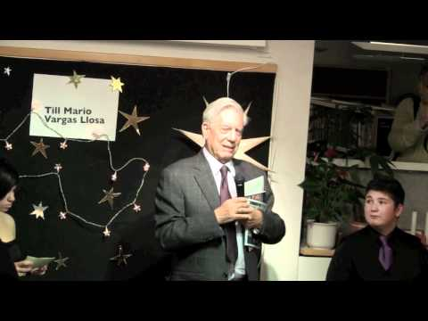 Mario Vargas Llosa i Rinkeby