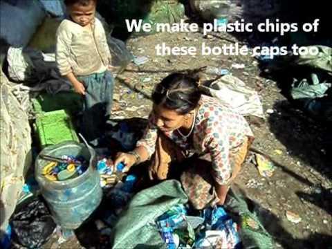 Plastic Bottles being recycled in Kathmandu
