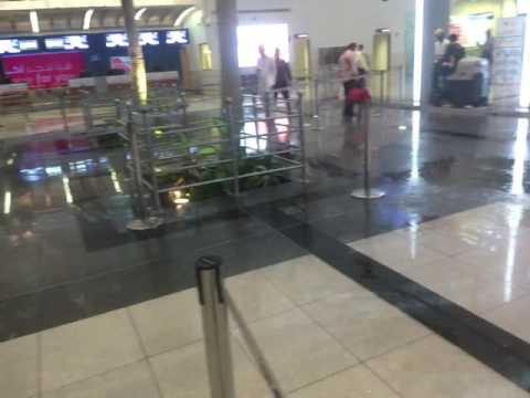 Leakage of rain inside Salalah airport. Video supplied