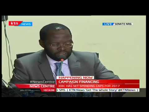 Happening Now: IEBC Commissioners face senators over spending caps