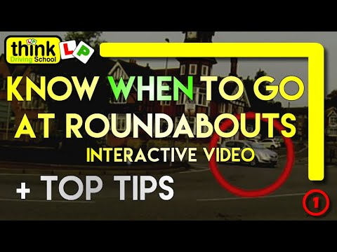 Know When To Go At Roundabouts Driving Lesson, Roundabout Blockers - Identifying & Seeing Gaps