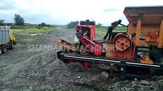 15-50tph shanman machinery Mobile Stone Rock Small Diesel Engine Mining Crusher Price youtube video