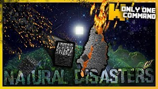 Minecraft - Natural Disasters with Only One Command Block (Eruptions, Meteorites & more!)