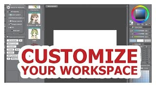 How to customize your Clip studio paint workspace