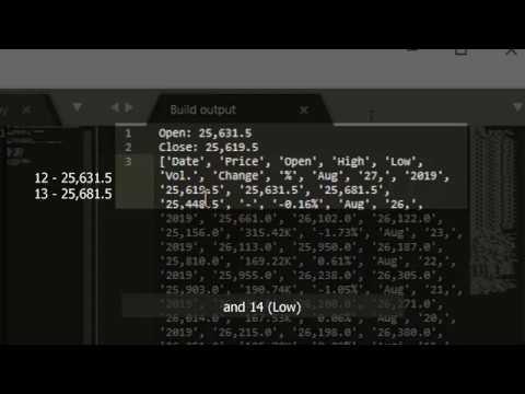 Python Web Scraping  Realtime Stock Data   Pythonbeginner 2019