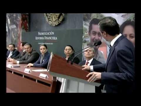 En vivo:  Promulgación de la Reforma Financiera