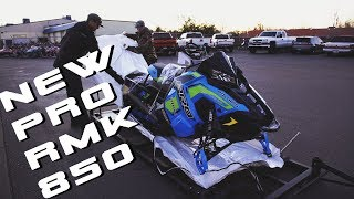 2. Taking Delivery of A New 2019 Polaris PRO RMK 850! - Vlog #1