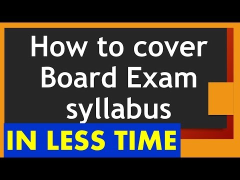 Short quotes - How to cover the CBSE Board Exam syllabus in short time - Tips for Exam Preparation