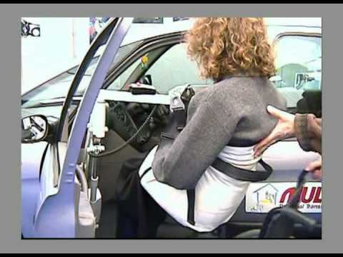 Cool Wheelchair Lift Lifts Disabled Person In Car or Home