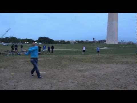 Bryce Harper Plays in Pickup Softball Game on the National Mall
