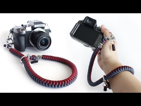 How To Make A Snake Knot Paracord Camera Strap Tutorial | Snap Shackle Wrist Strap