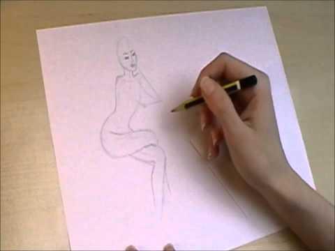 Sitzende Frau zeichnen – DrawingTime