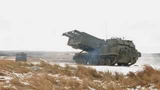 Otterburn United Kingdom  city photos gallery : British Army Gunners fire Multi Launch Rocket System at Otterburn