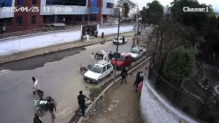 Nepal Earthquake CCTV Video of Dharahara, Sundhara (EXCLUSIVE)