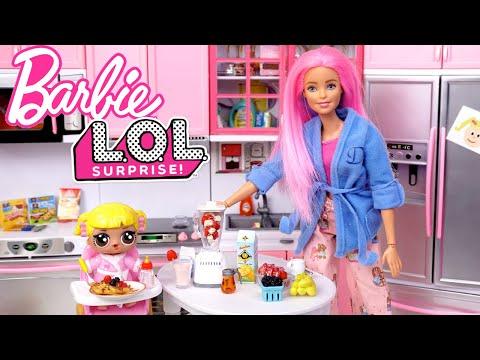 Barbie LOL Baby Goldie Family Morning Routine - School Bus Field Trip