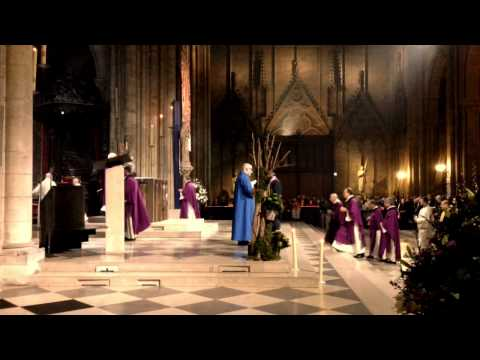 **Beautiful** Christmas mass in The Notre Dam Cathedral Paris