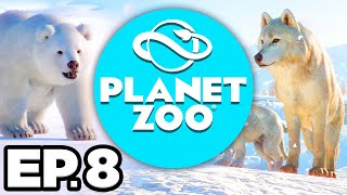 Planet Zoo: Arctic Pack Ep.8 - • ARCTIC WOLVES HABITAT, ANIMAL FUN FACTS!!! (Gameplay / Let's Play)