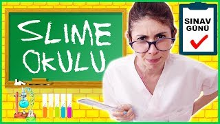 Slime Okulu Öğretmen Öğrenci Okulda Sınav Slaym Nasıl Yapılır Eğlenceli Çocuk Videosu Dila Kent