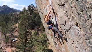 Sasha sends The Web in Eldorado Canyon by Sasha DiGiulian