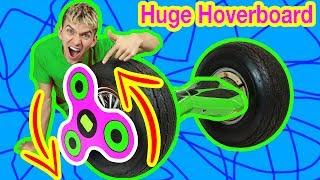 HUGE FIDGET SPINNER HOVERBOARD MOD!!