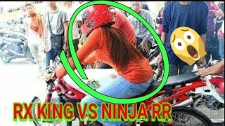 Video Rx King vs Ninja rr (kejar kejaran sampe nabrak polisi) MP3, 3GP, MP4, WEBM, AVI, FLV April 2019