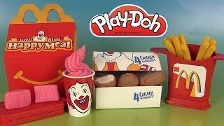 Play Doh McDonald's Chicken McNuggets Happy Meal Playshop Pâte à modeler Frites Sundae
