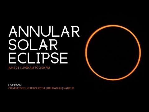 LIVE - Solar Eclipse Jun 21   Kurukshetra, Dehradun, Nagpur, Coimbatore видео