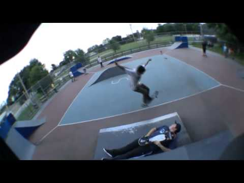Cam Huang Kickflip at Dracut Skatepark