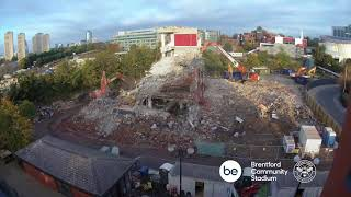 Brentford FC: Demolition of Capital Court timelapse video