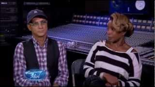 Mary J. Blige mentoring on American Idol