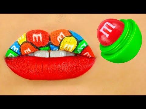 Videos de uñas - 9 RAROS IDEAS DE MAQUILLAJE / BROMAS GRACIOSAS DE MAQUILLAJE