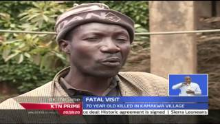 KTN Prime: 70 Year Old Man Mauled By Dogs In Nyeri County, 27/9/2016