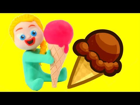 BABY ELSA & STRAWBERRY ICE CREAM  Superhero & Frozen Elsa Play Doh Cartoons For Kids  Stop Motion