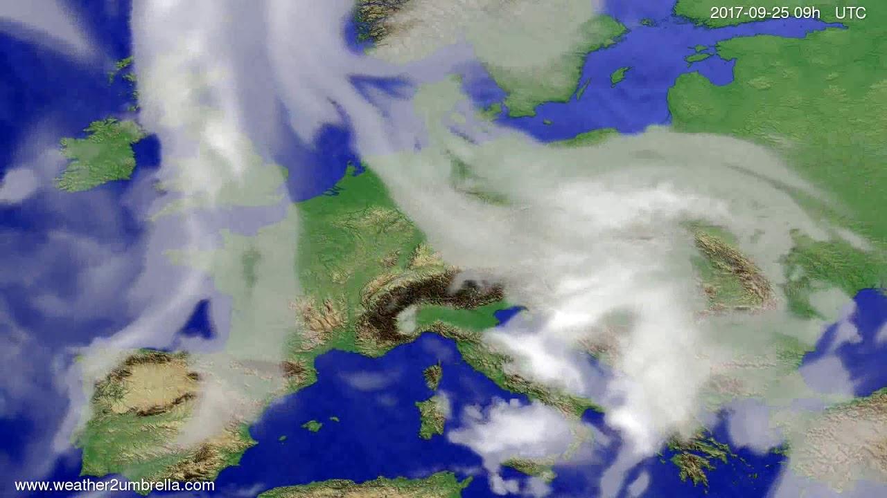 Cloud forecast Europe 2017-09-21