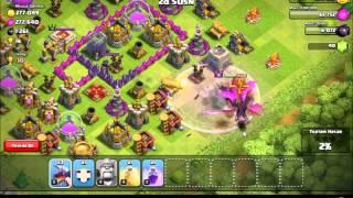 10 ejderha 5 binici ile saldırı clash of clans