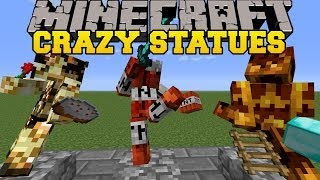 Minecraft: CRAZY STATUES! (BUILD YOUR OWN STATUES AND DISPLAY ITEMS!) Statues Mod Showcase