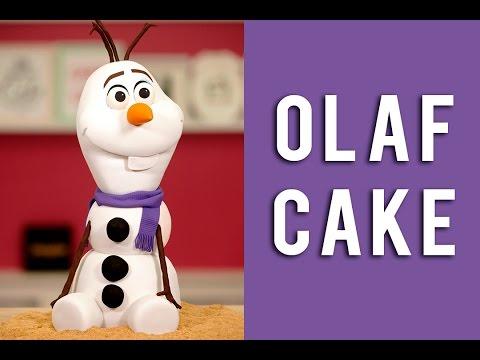 How To Make An OLAF Snowman Cake