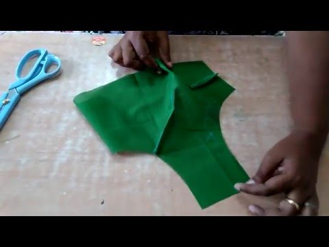 Blouse Cutting In English (part 3)